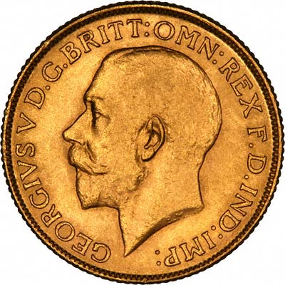 Obverse of 1914 Gold Sovereign