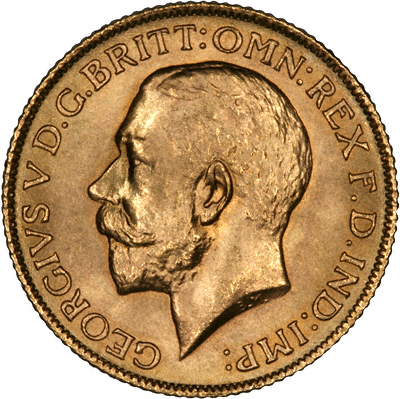 Obverse of 1925 Gold Sovereign