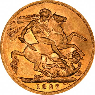 Reverse Due Date >> 1927 Gold Sovereign