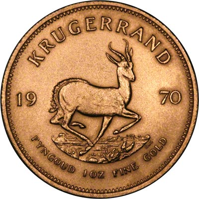 Reverse of 1970 South African Krugerrand