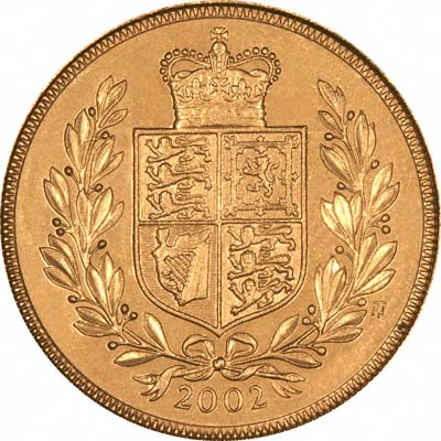 Our 2002 Queen Elizabeth II Gold Sovereign Reverse Photograph
