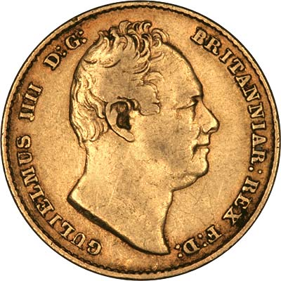 Obverse of 1836 Sovereign