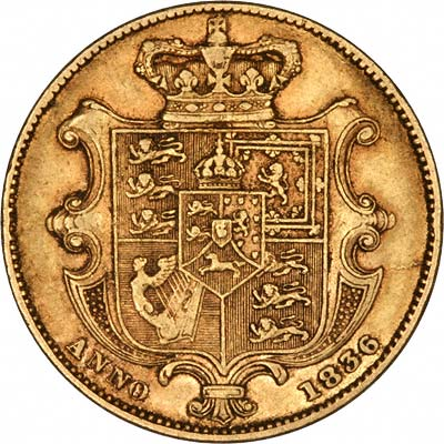 Reverse of 1836 Sovereign