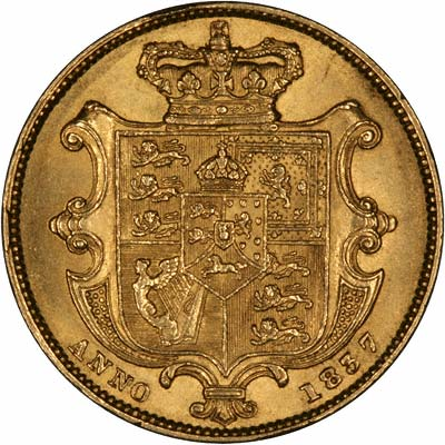Reverse of William IV Sovereign