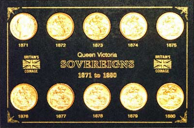 Complete Victoria Young Head St. George Date Set of Sovereigns