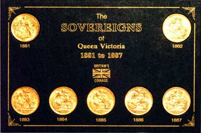 Victoria Young Head St. George Date Set of Sovereigns 1881 to 1887