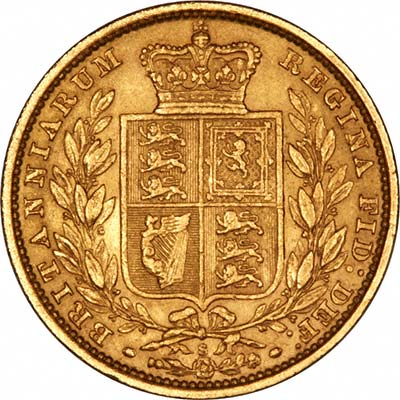 Reverse of Young Head St. George Sydney Mint Gold Sovereign