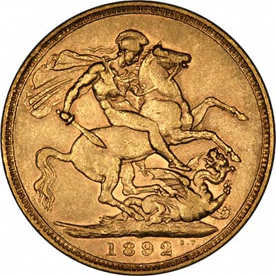 Reverse of 1892 Sovereign