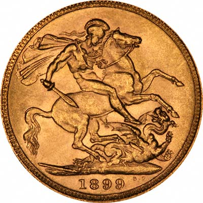Reverse of 1899 Melbourne Mint Sovereign