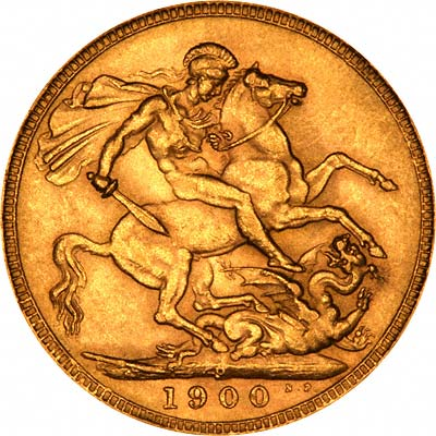 Reverse of 1900 Perth Mint Sovereign
