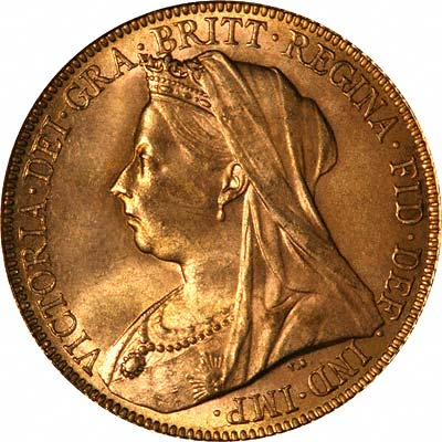 Obverse of 1900 Gold Sovereign