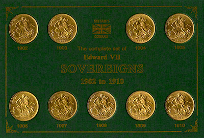 Complete Edward VII Date Set of Sovereigns