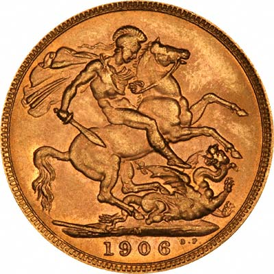 Reverse of 1906 Melbourne Mint Sovereign