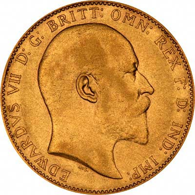 Obverse of Edward VII Sovereign
