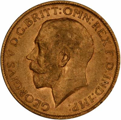 First Type Obverse of George V Sovereign