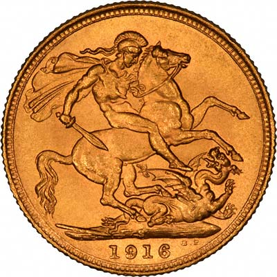 Reverse of First Type George V Sovereign