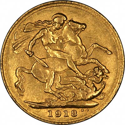 Very Obvious George V Sovereign Reverse