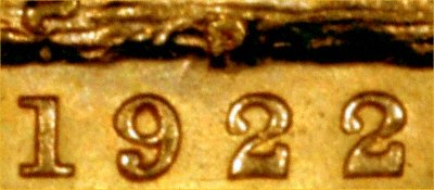 Close-up Showing P Mintmark and Date