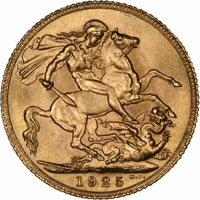 Reverse of 1925 Gold Sovereign