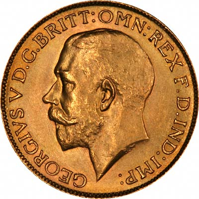 Obverse of 1928 Gold Sovereign