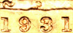 Detail Showing Date and P Mintmark