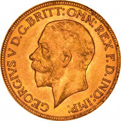 Obverse of 1931 Gold Sovereign