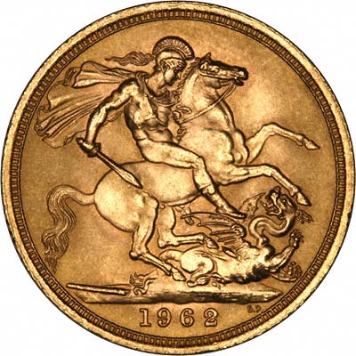 Reverse of 1962 Gold Sovereign