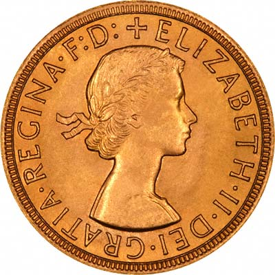 Obverse of 1966 Sovereign