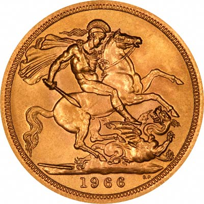 Reverse of 1966 Gold Sovereign