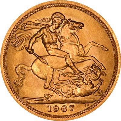 Reverse of 1967 Gold Sovereign