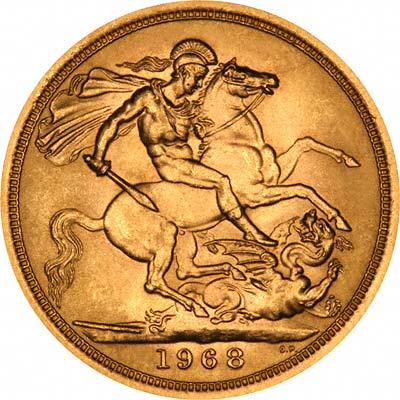 Reverse of 1968 Gold Sovereign