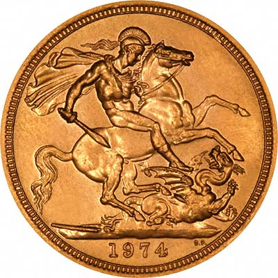 Reverse of 1974 Sovereign