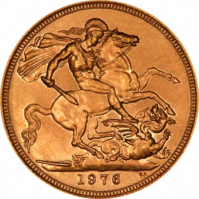 Reverse of 1976 Sovereign