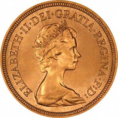 Obverse of 1978 Sovereign