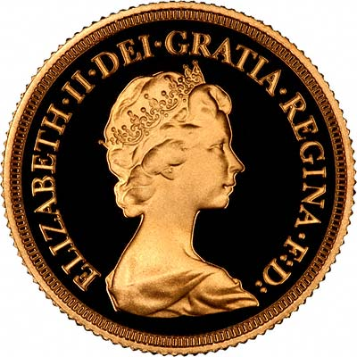 Obverse of 1980 Proof Sovereign