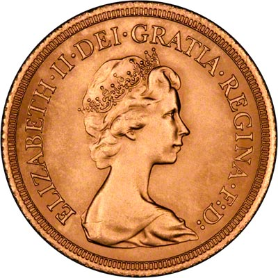 Obverse of 1980 Uncirculated Sovereign