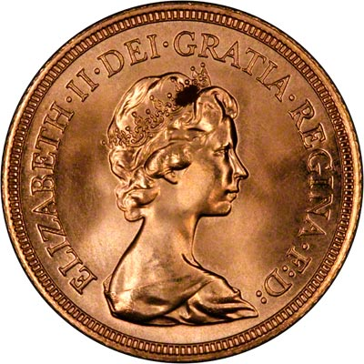 Obverse of 1981 Sovereign