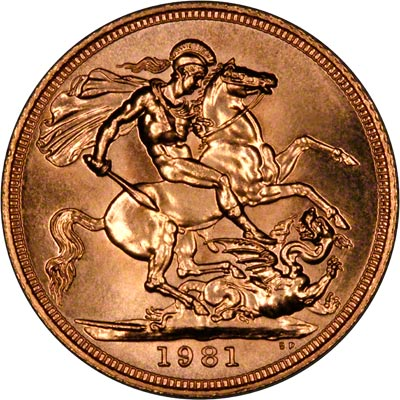 Reverse of 1981 Sovereign
