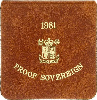 1981 Proof Sovereign in Vinyl Wallet