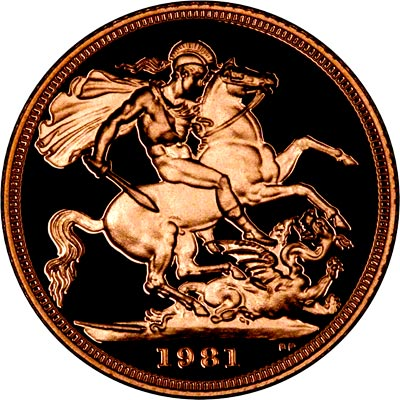 Reverse of 1981 Proof Sovereign