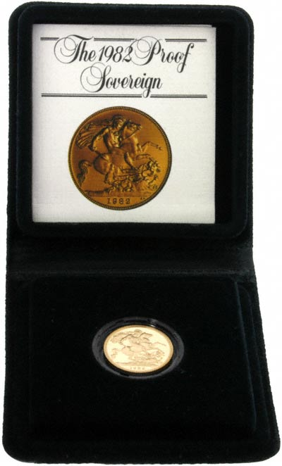 1982 Proof Sovereign in Presentation Box