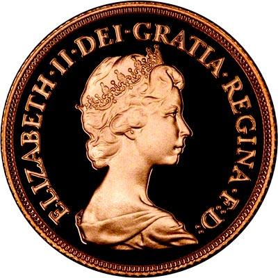 Obverse of 1982 Proof Sovereign