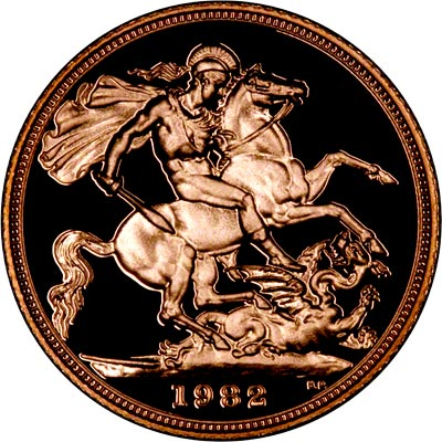 Reverse of 1982 Proof Sovereign