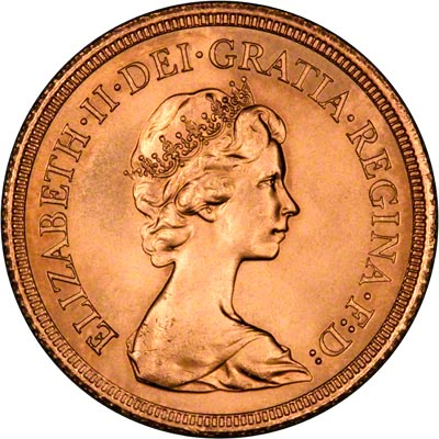Obverse of 1982 Uncirculated Sovereign