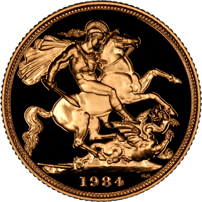 Reverse of 1984 Proof Sovereign