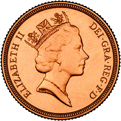 Obverse of 1993 Proof Sovereign