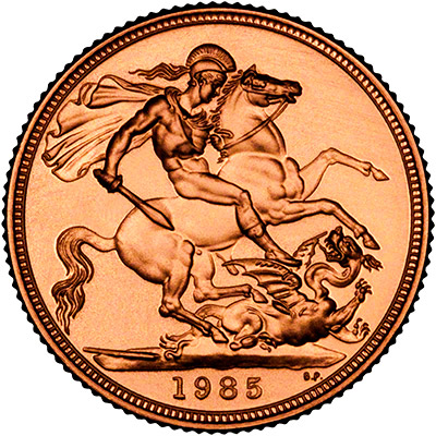 Reverse of 1985 Proof Sovereign