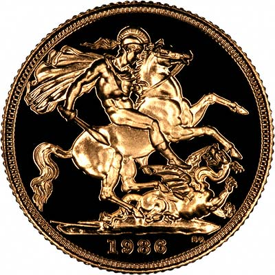 Reverse of 1986 Proof Sovereign