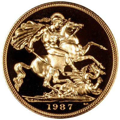 Reverse of 1987 Proof Sovereign