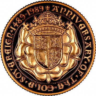 Reverse of 1989 Gold Sovereign